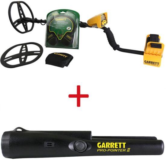 Garrett ACE 400i fémkereső detektor ajándék kiegészítőkkel + Pro Pointer II pinpointer csomag