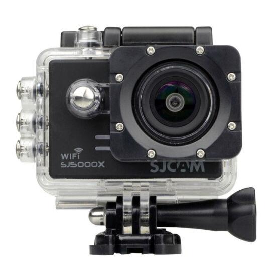 SJCAM SJ 5000x Elite WiFi 4K akciókamera, sportkamera vízálló tokkal + kiegészítőkkel (fekete)
