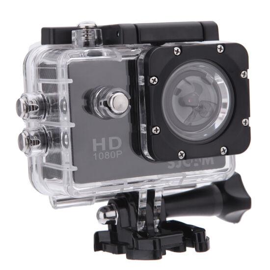 SJCAM SJ 4000 Full HD akciókamera, sportkamera vízálló tokkal + kiegészítőkkel (fekete)