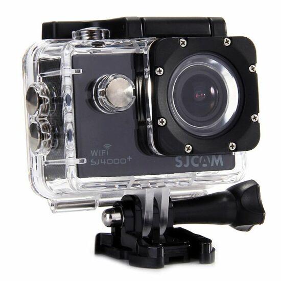 SJCAM SJ 4000+ WiFi 2K felbontású akciókamera, sportkamera vízálló tokkal + kiegészítőkkel (fekete)