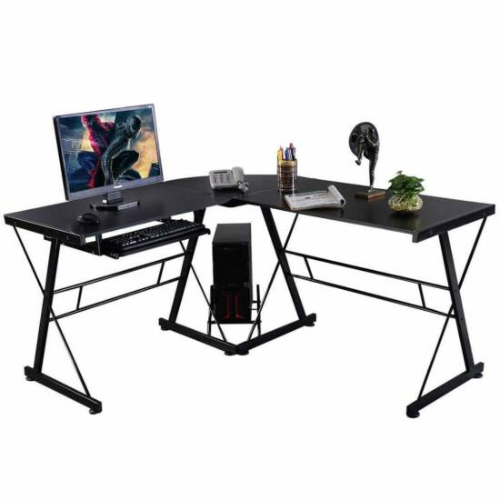 L alakú íróasztal, dolgozóasztal otthonra vagy irodába