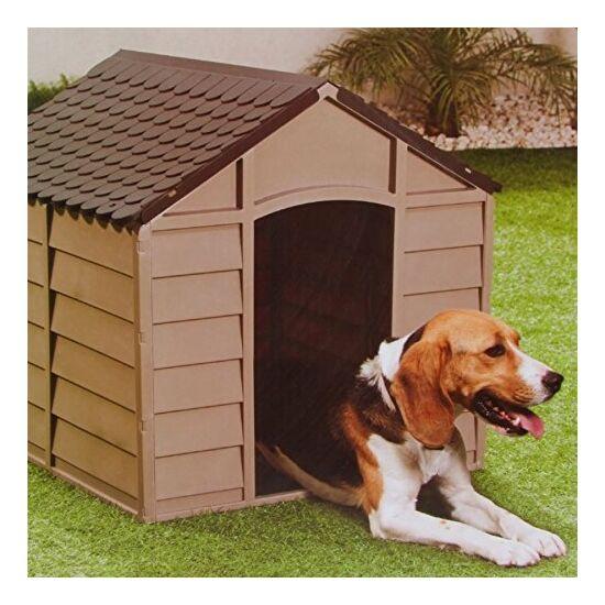 Műanyag kutyaház, kutyaól közepes kutyáknak - 72 x 71,5 x 68 cm