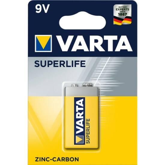 Varta Superlife 9V-os elem 6F22