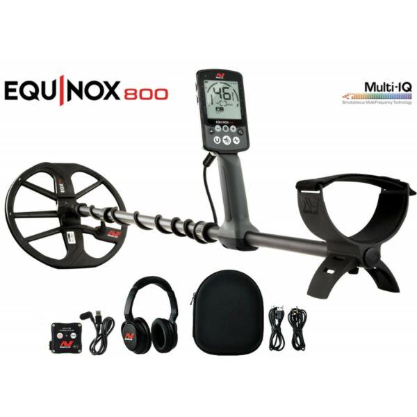 Minelab Equinox 800 multifrekvenciás vízálló fémkereső detektor + ajándék Bluetooth fejhallgató